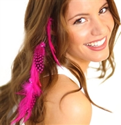 Hot Pink Feather Hair Extension Clip