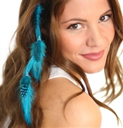 Turquoise Feather Hair Extension Clip