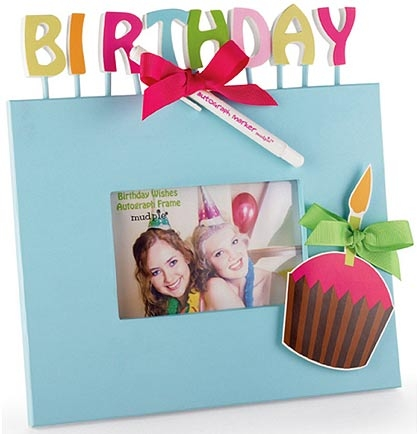 Birthday Autograph Frame: Aqua | Sweet 16 Party Gifts