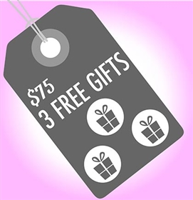 Choose your free gift when you spend $75 or more