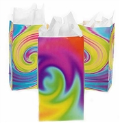 Set of 12 Tie-Dye Print Party Favor Bags