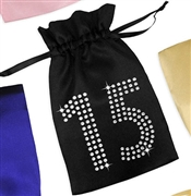 Crystal 15 Satin Party Favor Bag