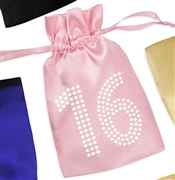 Crystal 16 Satin Party Favor Bag