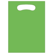 Set of 8 Solid Citrus Green Party Loot Bags