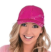Hot Pink Sequin Baseball Cap