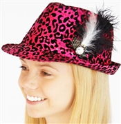 Animal Print Sequin Fedora