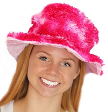 Pink Mix Fur Bucket Hat