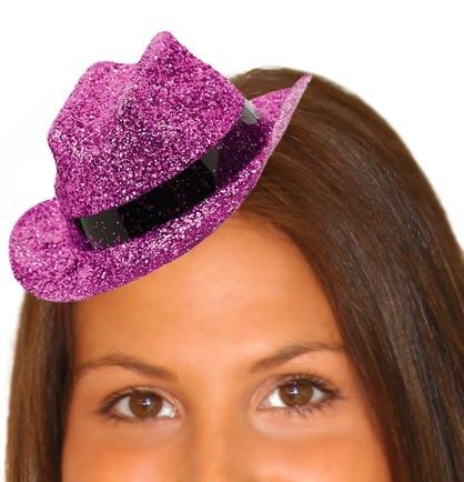 Glitter Pink Mini Cowboy Hat · Larger Photo ... 8cc2a7596721