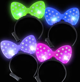 Flashing Polka Dot Bow Headband