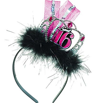Sweet 16 Tiara Headband