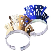 Set of 2 Metallic Happy Birthday Headbands | Favors & Decorations | Sweet16PartyStore.com