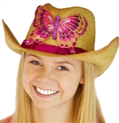 Straw Western Butterfly Hat