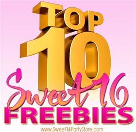 Top 10 Sweet 16 Freebies | Sweet 16 Ideas
