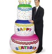 Jumbo Inflatable Birthday Cake: 6ft