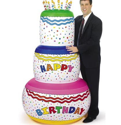 Magnificent Jumbo Inflatable Birthday Cake 6 Ft Sweet 16 Party Supplies Personalised Birthday Cards Bromeletsinfo