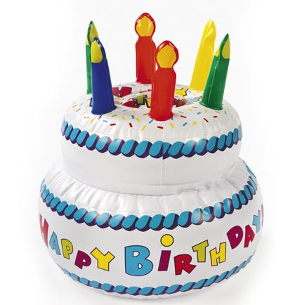 Groovy Big Inflatable Birthday Cake 10 Inches Sweet 16 Party Supplies Personalised Birthday Cards Bromeletsinfo