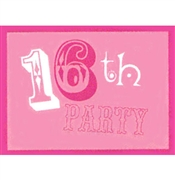 16th Party Birthday Invitations