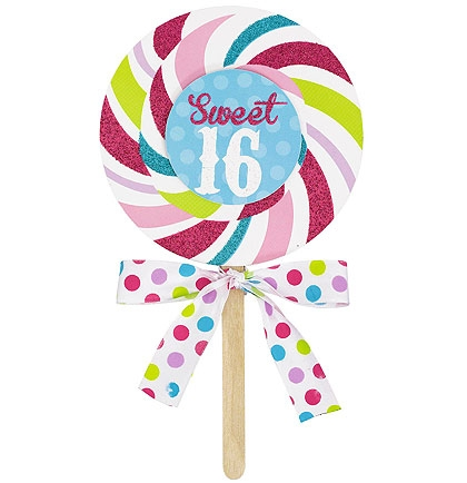 Glitter Lollipop Sweet 16 Invitations Sweet 16 Party Supplies