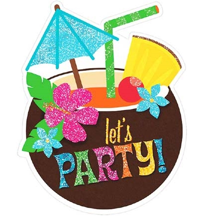 Luau Party Glitter Invitations Sweet 16 Party Supplies