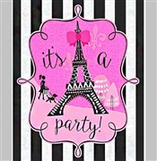 Party in Paris Glitter Invitations | Sweet 16 Party Supplies | Sweet16PartyStore.com