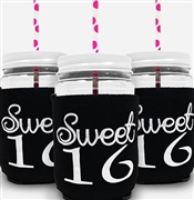 White Girly Sweet 16 Sipping Jar