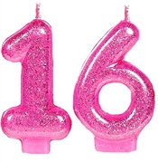 Pink Glitter 16 Candle