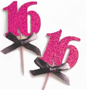 16 Sparkle Cupcake Toppers