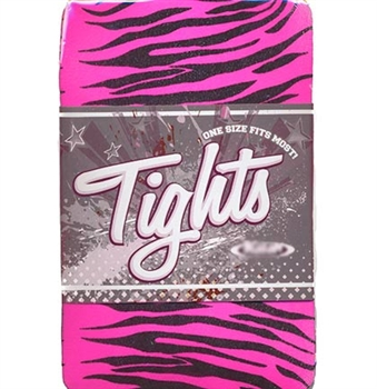 Pink & Black Zebra Print Tights