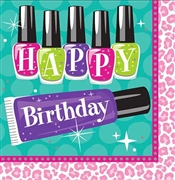 Happy Birthday Sparkle Spa Napkins