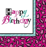 Happy Birthday Animal Print Napkins | Sweet 16 Party Store