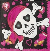 Pink Pirate Girl Napkins