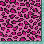 Colorful Party Animal Print Napkins