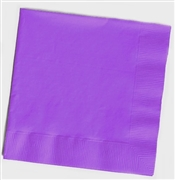 Solid Purple Cocktail Napkins