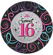 Sparkle Sweet 16 Plates