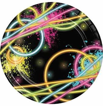 Neon Party Plates