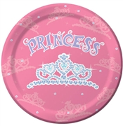 Pink Princess Tiara Birthday Plates