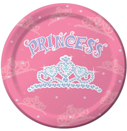 Pink Princess Tiara Birthday Plates  sc 1 st  Sweet 16 Party Store & Pink Princess Tiara Plate | Sweet 16 Party Decorations