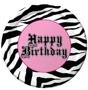 Zebra Happy Birthday Plates