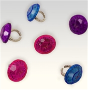 Set of 6 Jewel Rings