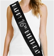 Happy 16th Birthday Foil & Rhinestone Sash