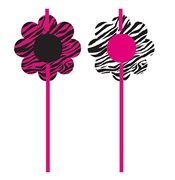 Zebra Flower Straws