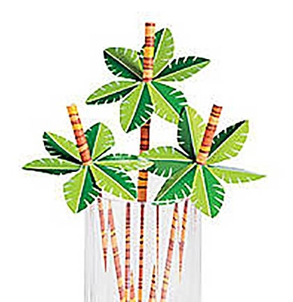 Palm Tree Paper Straws Sweet 16 Party Supplies