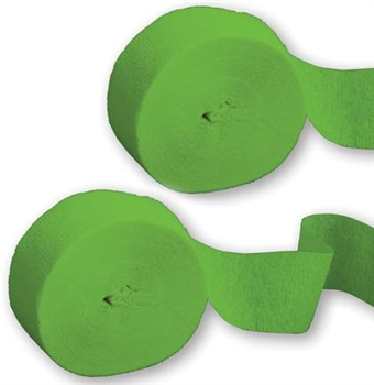 Set of 2 Citrus Green Party Streamers