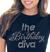 The Birthday Diva Rhinestone Tee | Sweet 16 Shirts