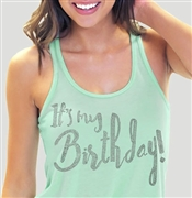 It's My Birthday Flowy Racerback Tank Top | Sweet 16 Shirts