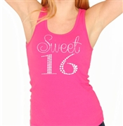 Sweet 16 Rhinestone Tank Top | Sweet 16 Shirts