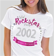 Total Rockstar Since 2002 Tee | Sweet 16 Shirts
