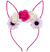Floral Kitten Ear Headband