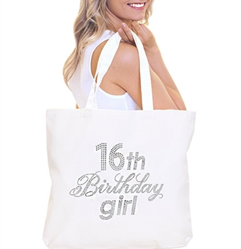 16th Birthday Girl Rhinestone Tote