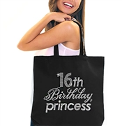 16th Birthday Princess Rhinestone Tote